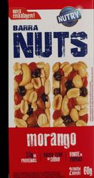 Barra De Cereal Nutry Nuts De Morango 60 g
