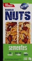 Barra De Cereal Nutry Nuts Sementes 60 g