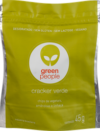 Biscoito Greenpeople Crackers Verde 45 g