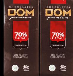 Chocolate Dom 70% Cacau Tradicional 80 g