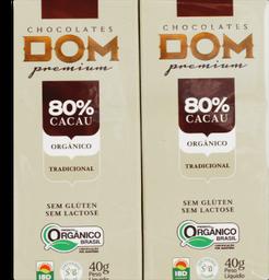 Chocolate Dom 80% Cacau Tradicional 80 g