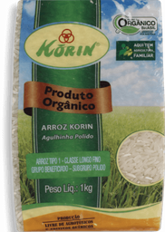 Arroz Korin Orgânico Polido 1 Kg