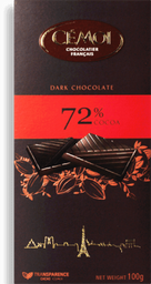 Chocolate Cémoi 72% Cacau 100 g