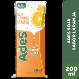 Alimento De Soja Ades Laranja 200 mL