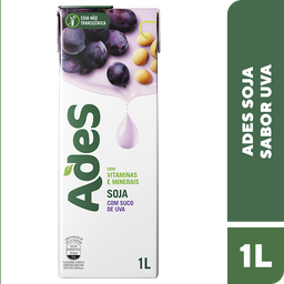 Alimento De Soja Ades Uva 1 L