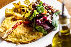 Omelete De Tomate Fresco Com Manjericão