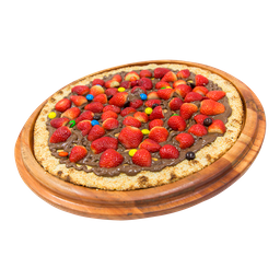 Pizza de Morango com Chocolate