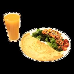 Omelete + Salada + Suco
