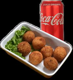 Arancini + refrigerante lata