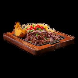 Carne Seca Desfiada Com Cebola Roxa
