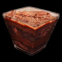 Bolo de Pote Mousse de Chocolate ao Leite