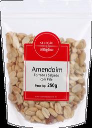 Amendoim Torrado Sem Pele Com Sal 250 g