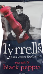 Batata Tyrrells Sal Marinho e Pimenta do Reino 150 g