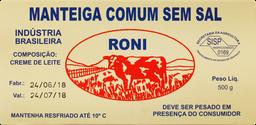 Manteiga Roni Sem Sal 500 g
