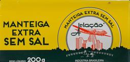 Manteiga Em Barra Aviação Sem Sal 200 g