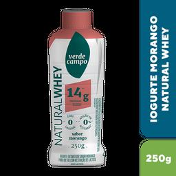 Iogurte Verde Campo Whey Morango 250 g