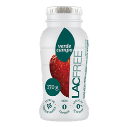 Iogurte Verde Campo Lacfree Morango 170 g