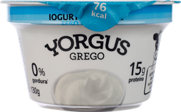 Iogurte Yorgus Grego Sem Lactose Natural 130 g