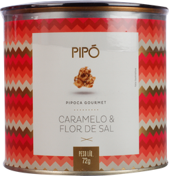 Pipoca Pipo Doce Caramelo E Flor Sal 72 g