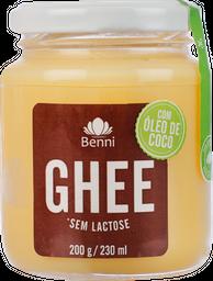 Manteiga Ghee Benni Óleo de Coco Sem Lactose 180 g