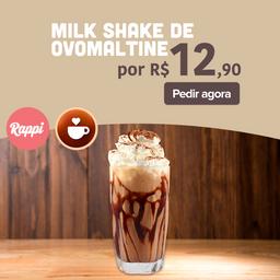 Promo mais pedida: Milk Shake Ovomaltine