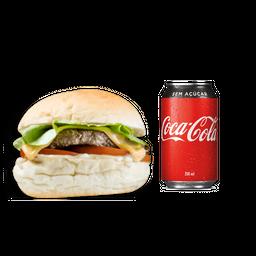 X-Salada + Coca-Cola Lata
