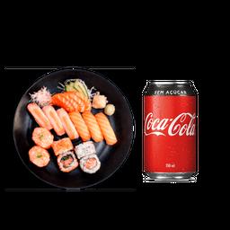 Box Chinmi Max Salmão + Shimeji Batayaki + Coca-Cola
