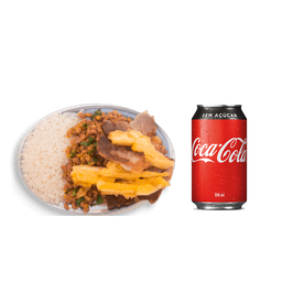 Carne de Sol com Mandioca na Manteiga + Coca-Cola Zero Lata