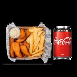 Fish and Chips + Coca-Cola Lata
