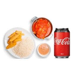 Filé de Frango à Parmegiana+ Coca-Cola Lata