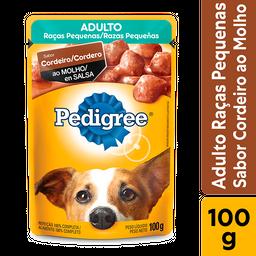 Ração Úmida Pedigree Sachê Cordeiro Cães Adultos Pequenos 100g
