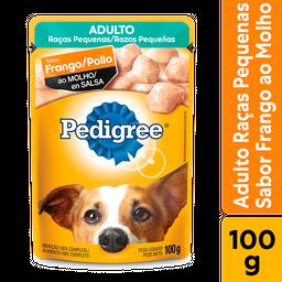 Ração Úmida Pedigree Sachê Frango Cães Adultos Pequenos 100g