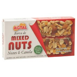 &Joy Barra Mixed Nuts Nozes E Canela Agtal Sem Glúten