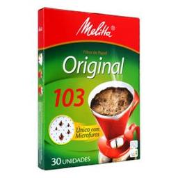 Filtro De Papel Melitta Original 103 Com 30 Und