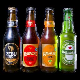 Kit 4 cervejas