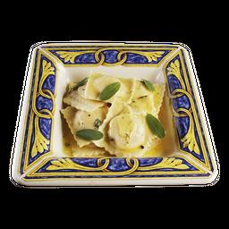 Ravioli de Brie com Amêndoas