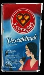Café Descafeinado À Vácuo 3 Corações 250 g