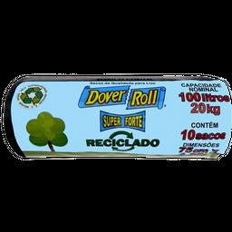 Saco Dover Roll De Lixo Reciclado Preto 100 L C 10 Unidades