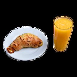 Croissant Presunto e Queijo + Suco