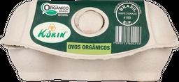 Ovos Korin Vermelhos Orgânicos Grandes 6 U