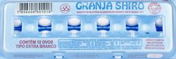 Ovos Granja Shiro Extra Branco 12 U