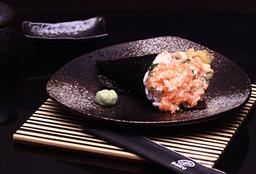 Temaki Salmão Pequeno Maionese e Cebolinha sem arroz