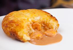 Batata Rosti Camarão com Queijo Cremoso