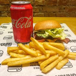 30% OFF American Burger + Batata + Refri