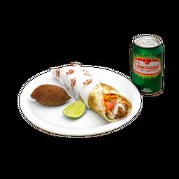 Kebab + Kibe ou Fritas + Bebida