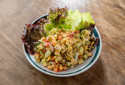 Grãos Com Frango Vapor, Salada