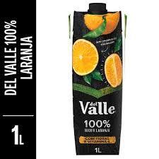 Suco de laranja 100% del valle