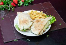Beirute Rosbife Grande + Batata frita