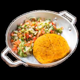 Kibe Vegetariano e Salada Alepo