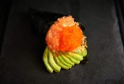 Temaki Salmão com Avocado e Ovas